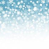 Zima płatków śniegów tło Obrazy Royalty Free
