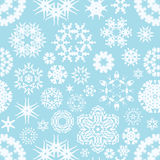 Zima płatka śniegu bezszwowy tło Fotografia Royalty Free