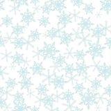 Zima płatka śniegu tła bezszwowy wzór również zwrócić corel ilustracji wektora biały Zdjęcie Royalty Free