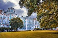 Zima pałac fotografia royalty free