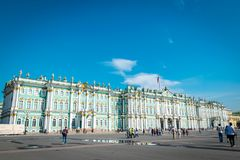 Zima pałac eremu muzeum w Świątobliwym Petersburg, Rosja fotografia royalty free