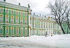 Zima pałac. Podwórze zdjęcie royalty free