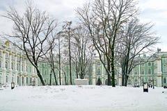 Zima pałac. Podwórze zdjęcie stock