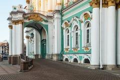 Zima pałac w świętym Petersbourg przy świtem obraz royalty free