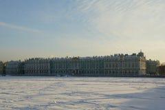 Zima pałac Zdjęcia Stock