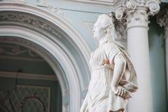 Zima pałac wnętrza erem Zdjęcia Royalty Free