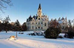 Zima park z kasztelem - Sistani zdjęcie stock
