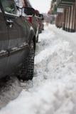 Zima parking Zdjęcie Stock