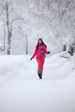 zima parkowa kobieta Obrazy Stock