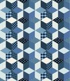 Zima patchworku bezszwowy wzór Fotografia Royalty Free