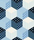 Zima patchworku bezszwowy wzór przeszłość nowego roku Obraz Stock