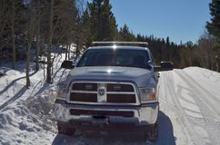 Zima patrolu ciężarówka w colorado rockies Zdjęcie Royalty Free