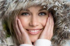 zima piękna kobieta fotografia royalty free