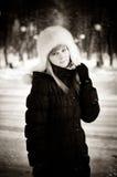 Zima piękno Zdjęcie Royalty Free