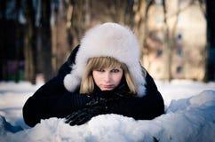 Zima piękno Zdjęcia Royalty Free