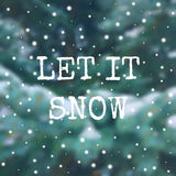 Zima plakat na zamazanym tle z śniegiem Fotografia Royalty Free