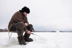 Zima połów zdjęcie royalty free