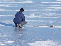 zima połowów Zdjęcia Royalty Free