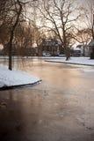 Zima podczas zmierzchu Fotografia Royalty Free