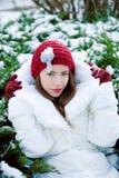 Zima portret Fotografia Royalty Free