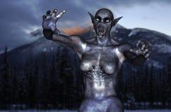 Zima potwora spacery Fotografia Stock
