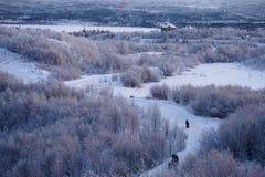 Zima poza Arktyczny okrąg zdjęcie stock