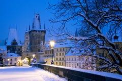Zima Praga, republika czech, Europa Zdjęcie Stock
