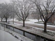 Zima przy Gorinchem zdjęcia royalty free