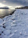 Zima przy Jeziornym Clark Obrazy Stock