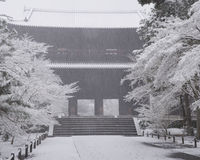 Zima przy Nanzenji świątynią Zdjęcie Stock