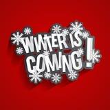 Zima przychodzi Fotografia Stock