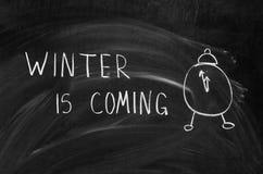 Zima przychodzi Zdjęcia Stock