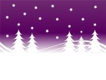 zima purpurowych tło Zdjęcia Stock