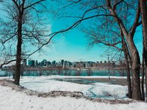 Zima ranek w Quebec Montreal Obraz Royalty Free