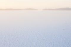 Zima ranku widok zamarznięty jezioro obraz royalty free
