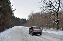 Zima ruch drogowy obraz royalty free