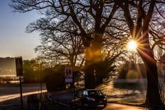 Zima słoneczny dzień Zdjęcie Stock