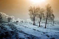 Zima sceneria Obrazy Royalty Free
