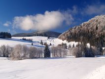 zima scenerii Zdjęcie Royalty Free