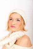 zima seksowna smilling kobieta Zdjęcie Royalty Free