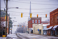 Zima sezon w York południe Carolina obraz stock