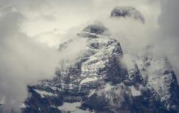 Zima sezonu Halny szczyt fotografia stock