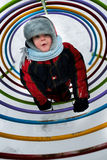 Zima spaceru dziecko Obraz Royalty Free