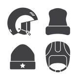 Zima sportów głowy odzieży konturu ikony ilustracja wektor