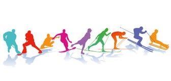 Zima sportów ilustracje ilustracja wektor