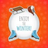Zima sportów tło Zdjęcie Stock