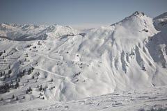 Zima sport w austriackim kurorcie Montafon Zdjęcia Royalty Free