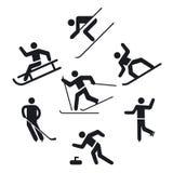 Zima sporta ikony royalty ilustracja