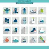 Zima sporta ikony kształt Zdjęcie Stock