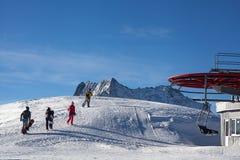 Zima sporta jazda na snowboardzie zdjęcie stock